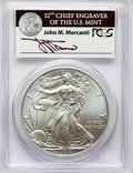 Modern Bullion Coins, Five-Piece 2011 Silver Eagle 25th Anniversary Set, First Strike, Mercanti Signature, MS70-PR70 Deep Cameo PCGS. Includes: 2011... (Total: 5 coins)
