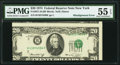 Misaligned Face Printing Error Fr. 2071-B $20 1974 Federal Reserve Note. PMG About Uncirculated 55 EPQ