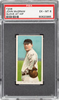 Baseball Cards:Singles (Pre-1930), 1909-11 T206 Sovereign 460 John McGraw (Glove At Hip) PSA EX-MT 6 - Pop Three, One Higher for Brand. ...