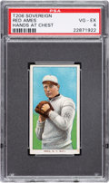 Baseball Cards:Singles (Pre-1930), 1909-11 T206 Sovereign 150 Red Ames (Hands At Chest) PSA VG-EX 4 - Pop Two, One Higher for Brand. ...