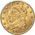 Early Half Eagles, 1824 $5 BD-1, High R.5, MS64 PCGS. CAC....