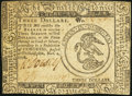 Continental Currency November 2, 1776 $3 Very Fine