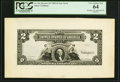 Hessler 187 Fr. 249 $2 1899 Silver Certificate Face Proof PCGS Very Choice New 64
