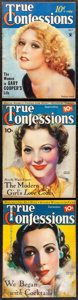 """Movie Posters:Miscellaneous, True Confessions (Fawcett Productions, 1934/1935). Overall: Fine/Very Fine. Magazines (3) (Multiple Pages, 8.5"""" X 11""""). Misc..."""