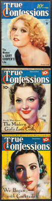 """True Confessions (Fawcett Productions, 1934/1935). Overall: Fine/Very Fine. Magazines (3) (Multiple Pages, 8.5"""" X 1..."""