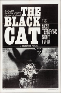 """The Black Cat (Hemisphere Pictures, 1966). Folded, Very Fine. One Sheet (27"""" X 41""""). Horror"""