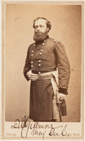Photography:CDVs, Quincy A. Gillmore Carte de Visite Signed . ...