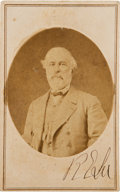 Photography:CDVs, Robert E. Lee Carte de Visite Signed...