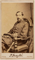 Photography:CDVs, Union Naval Captain Percival Drayton Carte de Visite Signed Twice....