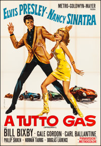"Speedway (MGM, 1968). Very Fine- on Linen. Italian 4 - Fogli (54"" X 78"") G. Di Stefano Artwork. Elvis Presley..."