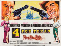 "4 for Texas (Warner Pathe, 1963). Folded, Very Fine-. British Quad (30"" X 40""). Western"