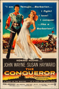 """Movie Posters:Action, The Conqueror (RKO, 1956). Folded, Fine/Very Fine. One Sheet (27"""" X 41""""). Action.. ..."""