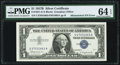 Mismatched Serial Numbers Error Fr. 1621 $1 1957B Silver Certificate. PMG Choice Uncirculated 64 EPQ