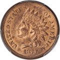 1877 1C MS63 Red and Brown PCGS