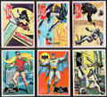 Non-Sport Cards:Lots, 1966 Topps Batman - Black Bat & Red Bat Complete Set (2)....