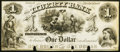 Obsoletes By State:Rhode Island, Providence, RI- Liberty Bank $1 18__ Proof Very Fine.. ...