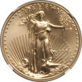 Modern Bullion Coins, 2006-W $50 One-Ounce Gold Eagle, Burnished, MS70 NGC. NGC Census: (3003). PCGS Population: (570). PR70....
