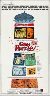 """Gay Purr-ee (Warner Brothers, 1962). Folded, Very Fine-. Three Sheet (41"""" X 79""""). Animation"""