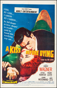 """A Kiss Before Dying (United Artists, 1956). Fine/Very Fine on Linen. One Sheet (26.75"""" X 41.75""""). Film Noir..."""