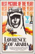 """Movie Posters:Academy Award Winners, Lawrence of Arabia (Columbia, 1963). Very Fine on Linen. One Sheet (27"""" X 41.5"""") Academy Award Style D. Academy Award Winner..."""