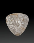Meteorites:Irons, Gibeon Meteorite Guitar Pick. Iron, IVA. Great Nama Land, Namibia - (25° 30'S, 18° 0'E). Found: 1836. 1.22 x 1...
