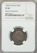 Canada: Victoria 20 Cents 1858 VF30 NGC