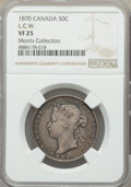 Canada: Victoria 50 Cents 1870 VF25 NGC