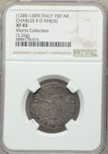 Italy:Naples & Sicily, Italy: Naples & Sicily. Charles II d'Anjou (1285-1309) Saluto d'Argento ND XF45 NGC,...