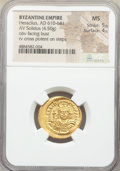 Ancients:Byzantine, Ancients: Heraclius (AD 610-641). AV solidus (21mm, 4.50 gm, 7h). NGC MS 5/5 - 4/5....