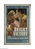 Movie Posters:War, Bright Victory (Universal, 1951)....