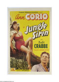Movie Posters:Adventure, Jungle Siren (PRC, 1942)....