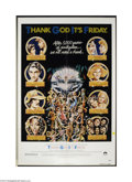 "Movie Posters:Comedy, Thank God It's Friday (Columbia, 1978). One Sheet (27"" X 41"").Starring Jeff Goldblum as the disco manager in this 1978 disc..."