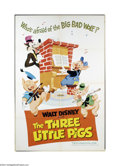 Movie Posters:Animated, The Three Little Pigs (Buena Vista, R-1968)....
