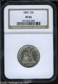 Proof Seated Quarters: , 1883 25C PR 65 NGC. ...