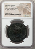 Ancients:Roman Imperial, Titus (AD 79-81). AE sestertius (34mm, 23.99 gm, 7h). NGC ...