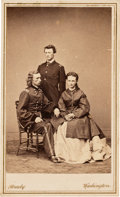 Photography:CDVs, George Armstrong Custer with His Wife Libbie and Brother Tom Carte de Visite....