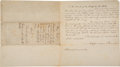 "Autographs:Statesmen, Jefferson Davis Document Signed ""Jefferson Davi..."