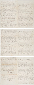 Autographs:Military Figures, George Rexford Autograph Letter Signed Twice....