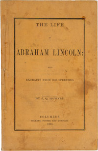 [Abraham Lincoln]. J.Q. Howard. The Life of Abraham Lincoln