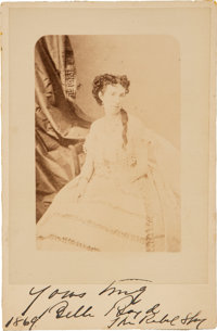 Belle Boyd Cabinet Card Inscribed and Signed