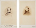 Photography:CDVs, Abner Doubleday Signed Carte de Visite and William H. Christian Carte de Visite.... (Total: 2 Items)