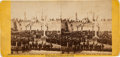 Photography:Stereo Cards, 1865 Fort Sumter Flag Re-Raising Stereoview....