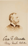 Photography:CDVs, George Meade Carte de Visite Signed ...