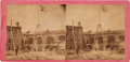 Photography:Stereo Cards, Fort Sumter with Confederate Flag Stereoview....