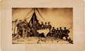 Photography:Cabinet Photos, Union General Quincy A. Gillmore and His Staff on Morris Island Cabinet Card.. ...