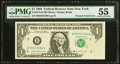Error Notes:Foldovers, Printed Fold Error Fr. 1914-B $1 1988 Federal Reserve Note. PMG About Uncirculated 55.. ...