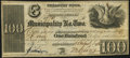 Obsoletes By State:Louisiana, New Orleans, LA- Municipality No. Two $100 Aug. 5, 1843 Fine-Very Fine.. ...