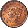 1834 1C Small 8, Large Stars, Medium Letters, N-1, R.1, MS64 Red and Brown PCGS....(PCGS# 37052)