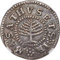 Colonials, 1652 Pine Tree Shilling, Small Planchet -- Repaired -- NGC Details. XF. Noe-17, W-840, Salmon 3-B, R.3....