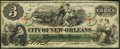 Obsoletes By State:Louisiana, New Orleans, LA- City of New Orleans $3 Jan. 1,1868 Very Fine-Extremely Fine.. ...